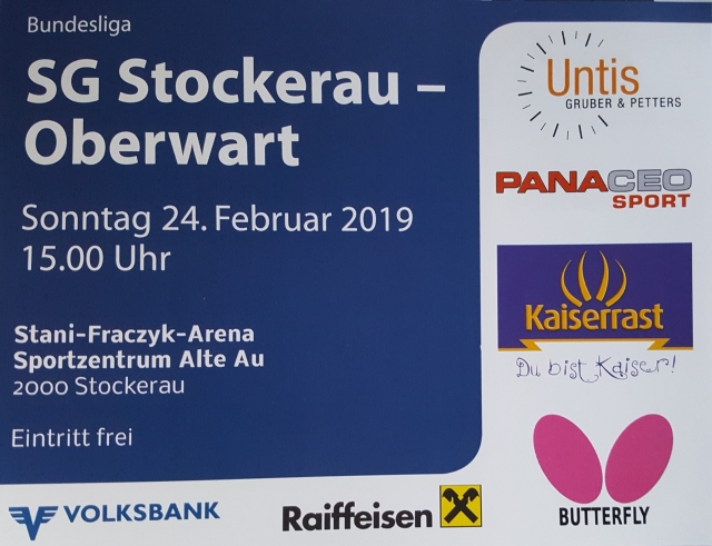 20190224SG Stockerau   Oberwart